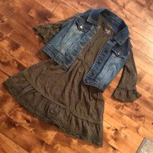 Girls dress and vest . Two different pieces